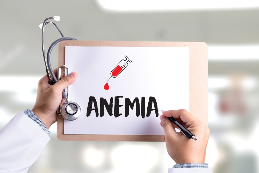 """Anemia""written on doctor's clipboard"