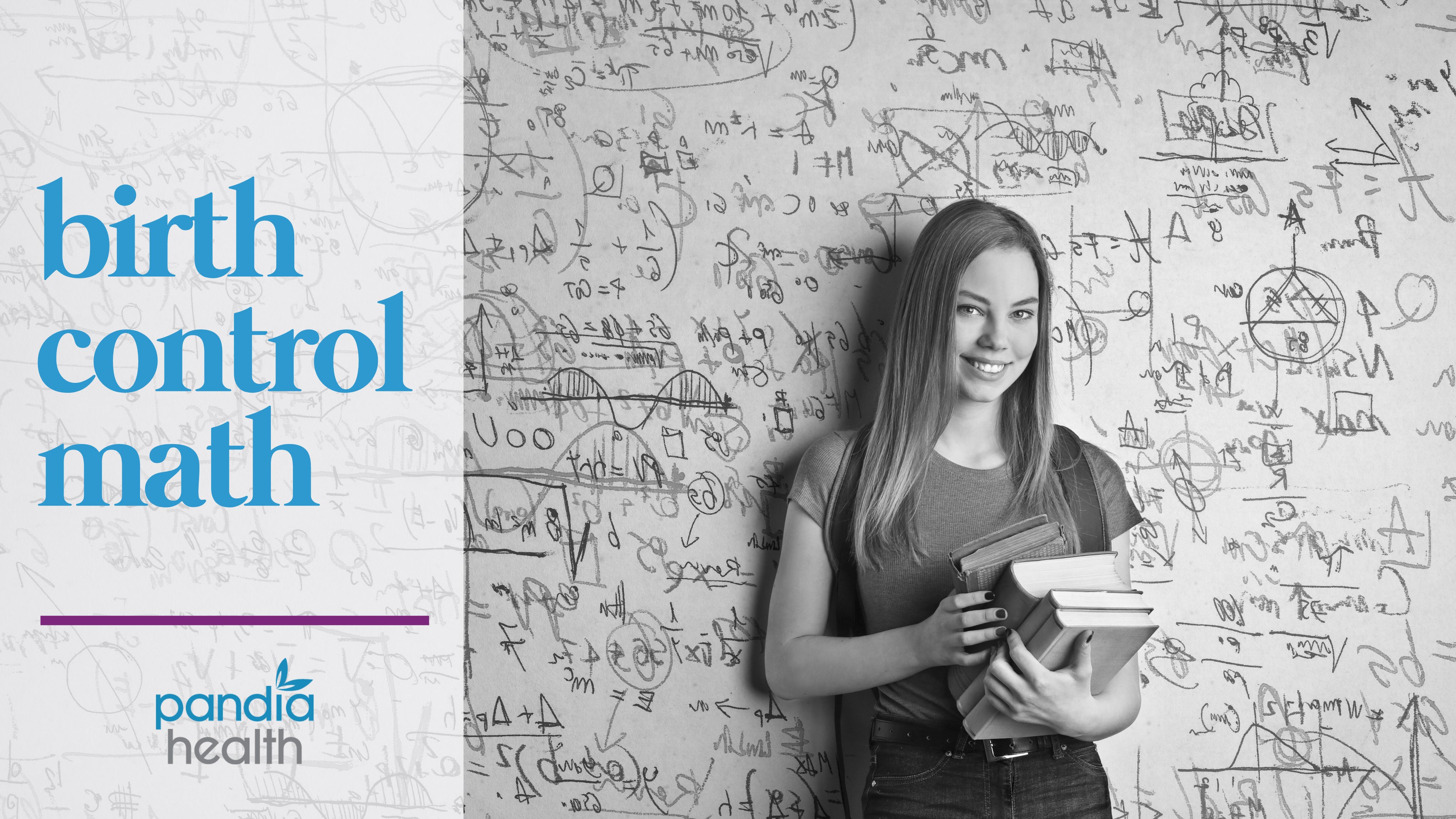 Girl holding textbooks standing in front of white board with math equations. blog header image