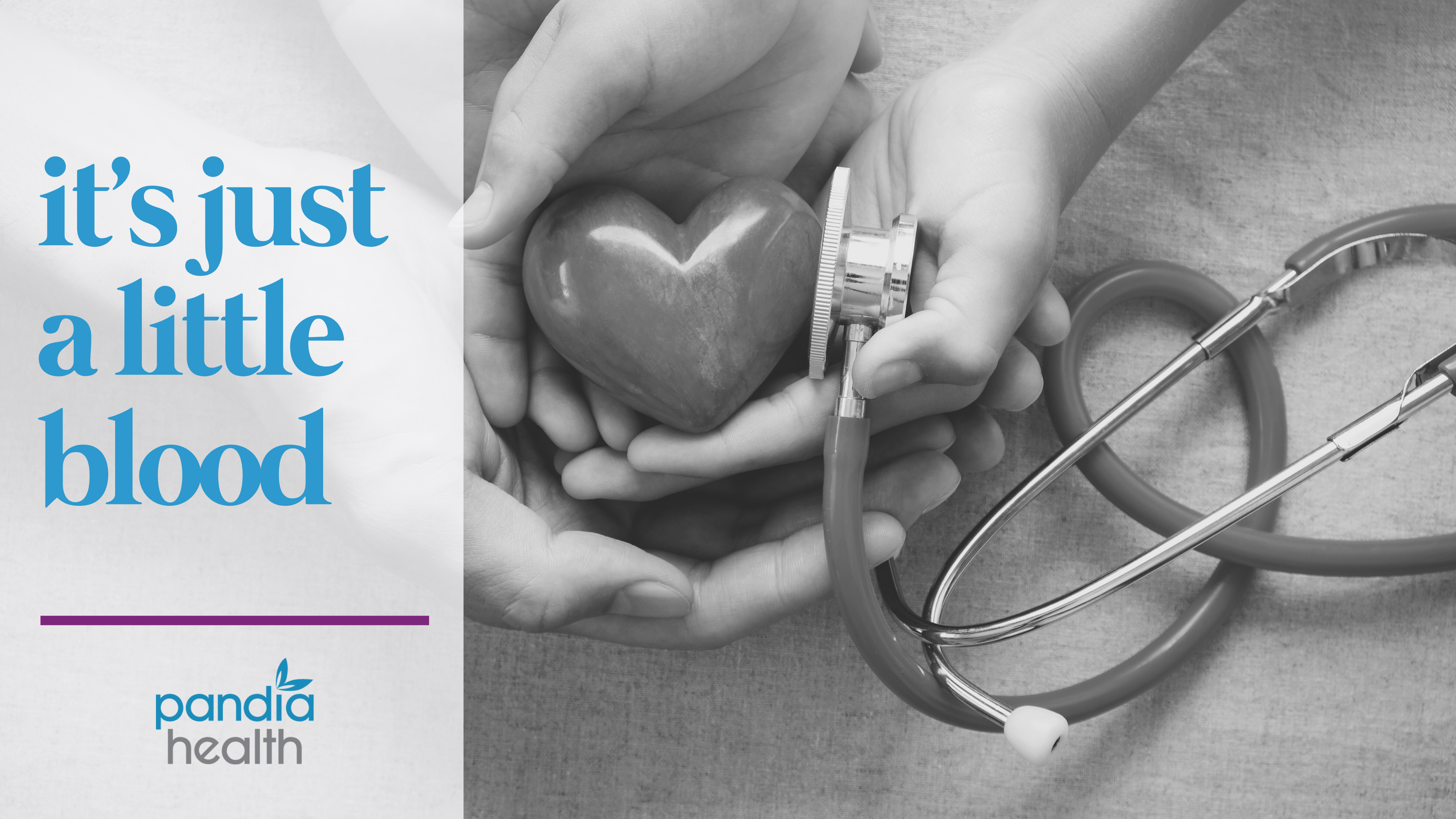 blog header image. parent and child's hands holding a heart shaped rock with a stethoscope pressed up to it.