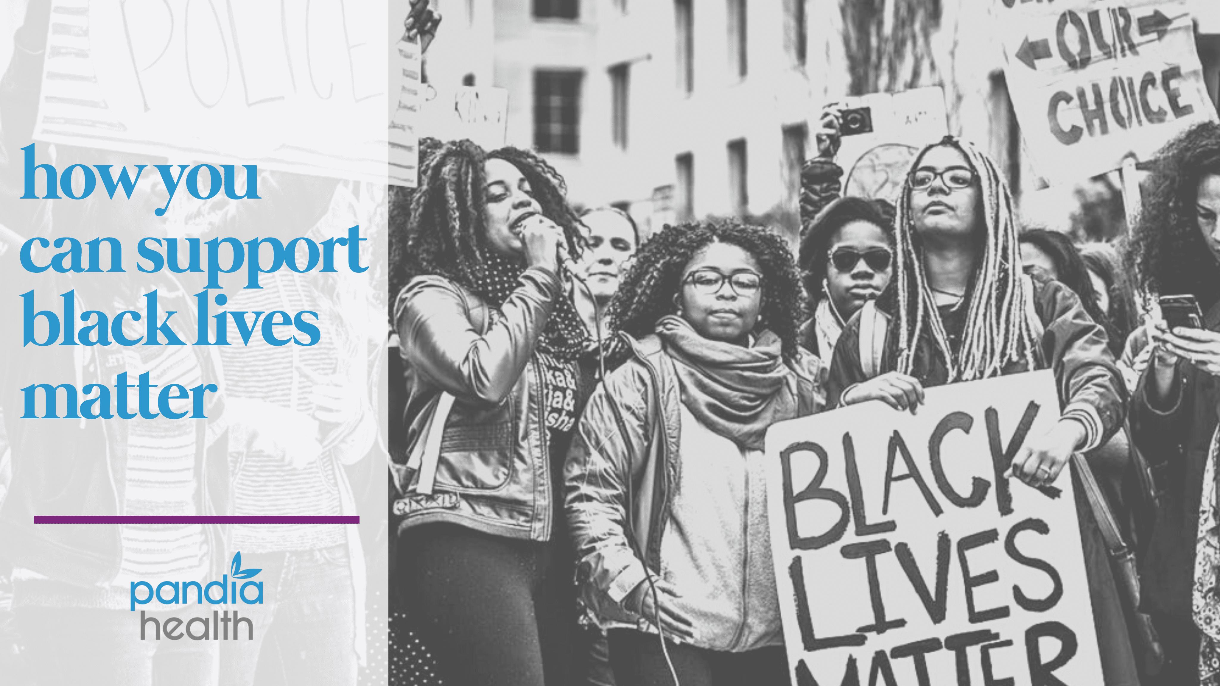 people protesting for black lives matter, blog header image