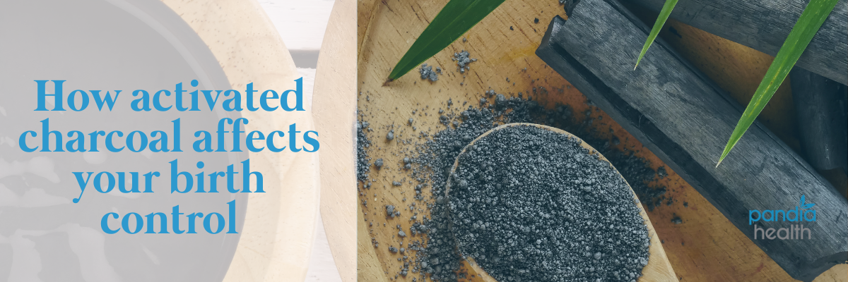 How activated charcoal affects your birth control. Activated charcoal shown in powder form.
