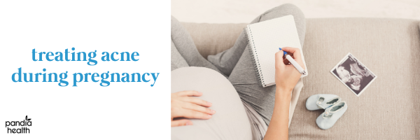 Pregnant Woman Writing on Notepad