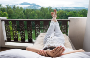 Woman Relaxing On Vacation